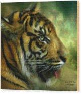 Spirit Of The Tiger Wood Print