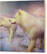 Spirit Of The White Wolf Wood Print