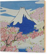 Spirit Of Ukiyo-e Illuminated By Stunning Nature Wood Print