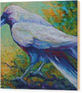 Spirit Raven Wood Print