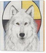 Spirit Wolf Wood Print