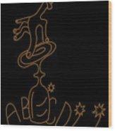 Spiritist Seance Wood Print