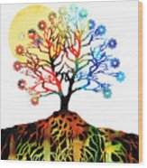 Spiritual Art - Tree Of Life Wood Print by Sharon Cummings