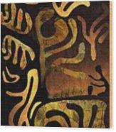 Spiritual Drummer Wood Print