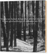 Spiritual Journey Wood Print