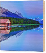 Spiritual Lake Wood Print