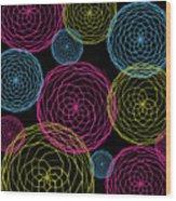 Spiro Blooms In Noir Wood Print