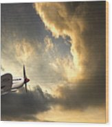 Spitfire Wood Print by Meirion Matthias