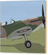 Spitfire Ww2 Fighter Wood Print