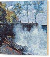 Splash At Mackenzie Wood Print