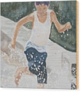Splash Dance Wood Print