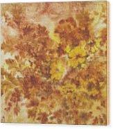 Splash Of Autumn Color Wood Print