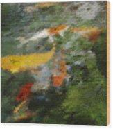 Splash Of Koi Wood Print