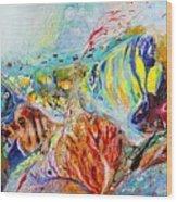 Splash Of Life #14 Red Sea  Wood Print
