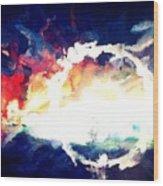 Splashed Sunset Wood Print
