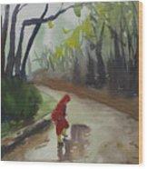 Splashing Wood Print by John Holdway