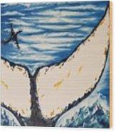 Ocean Tail Wood Print