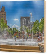 Splashville Of Asheville Wood Print