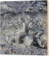 Splashy Incantations Of A Momenary Water Sculpture Wood Print