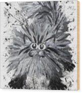 Splat Cat Wood Print
