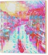 Splat In Italian Silk Wood Print