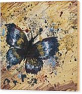 Splatter Butterfly Wood Print