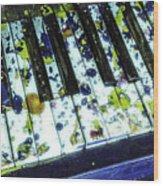 Splattered Keys Wood Print