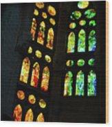 Splendid Stained Glass Windows Wood Print