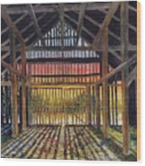 Splendor In The Barn Wood Print