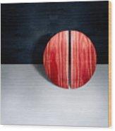 Split Circle Red Wood Print