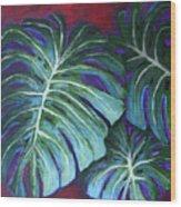 Split Leaf Philodendron Wood Print