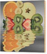 Split Reflections Wood Print