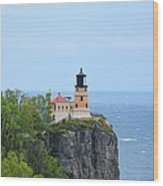 Split Rock Beacon Wood Print