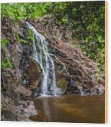 Split Rock Falls Wood Print