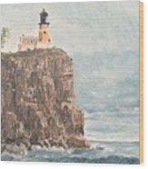 Split Rock Light House 4  Wood Print