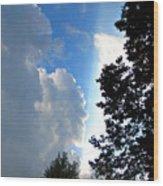 Split Sky Wood Print