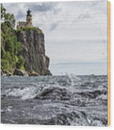 Splitrock Lighthouse 8-4-17 Wood Print
