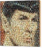 Spock Star Trek Mosaic Wood Print by Paul Van Scott