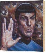 Spock Wood Print