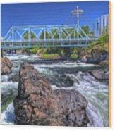Spokane Falls 2 Wood Print