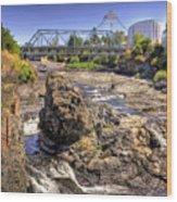 Spokane Falls Wood Print