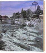 Spokane Pavilion Winter Wood Print