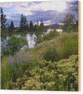 Spokane River Wildflowers Wood Print
