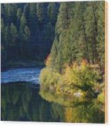 Spokane Rivereflections Wood Print