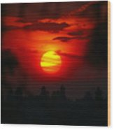 Spokane Sunrise Wood Print