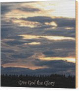 Spokane Sunset - Give God The Glory Wood Print