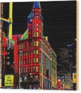 Spokane Turns Red Wood Print