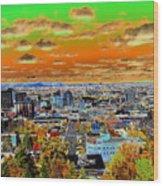 Spokane Washington Earth Wood Print