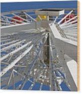 Spokes Of A Ferris Wheel Wood Print