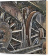 Spokes Of The Past Wood Print